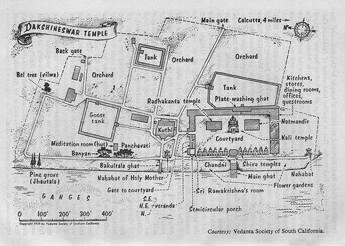Kali Temple compound map