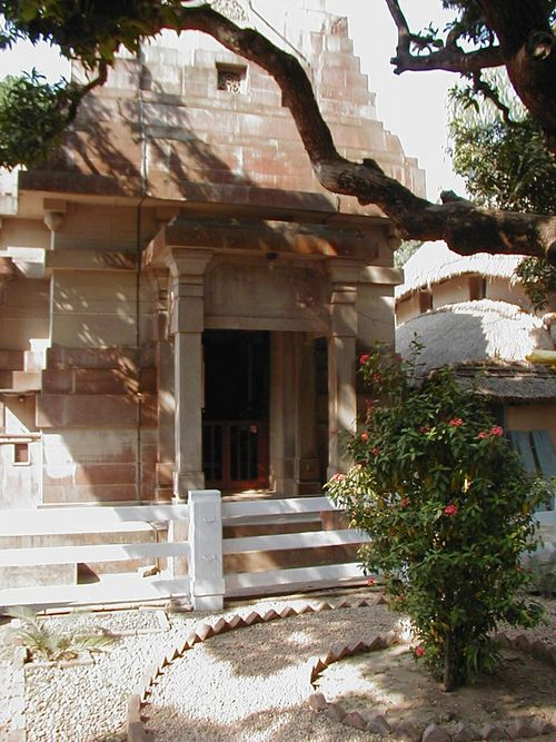 The small temple that now stands on the spot where Ramakrishna was actually born