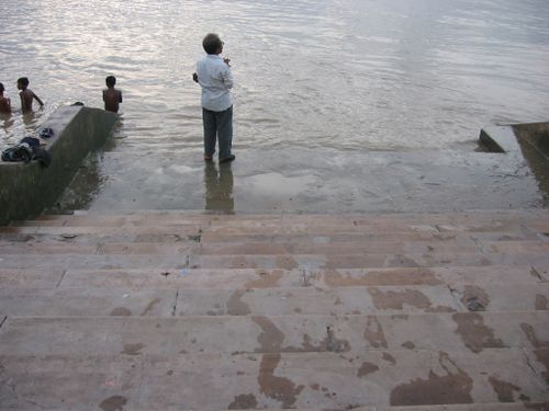 Mayer Ghat steps at Ganga