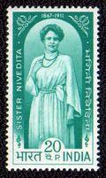 Nivedita postage stamp