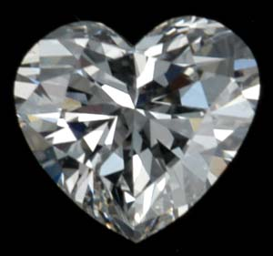 Diamond heart-shaped