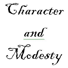 Character and modesty