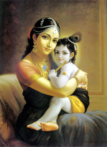 Krishna and mother Yasoda
