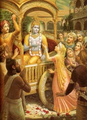 Krishna and Mother Kunthi