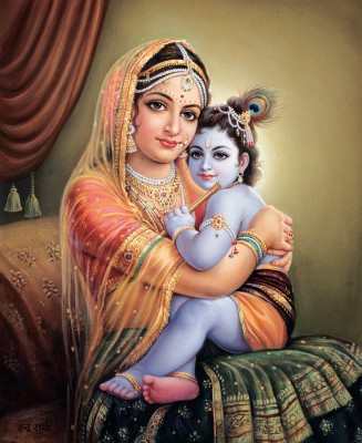 Yasoda and baby Krishna