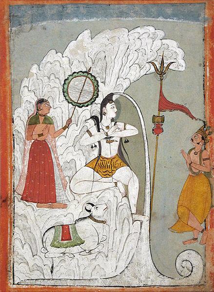 Ganga descending through Shiva