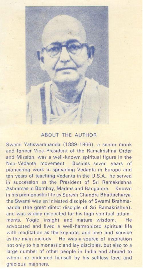 Swami Yatiswarananda