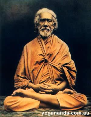 Lotus posture Sri Yukteswar