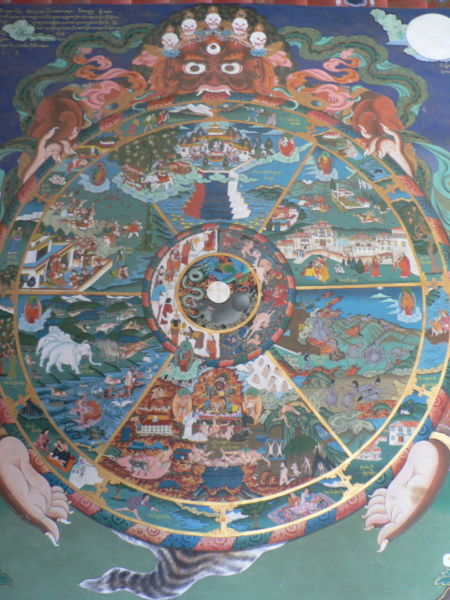 Tibetan wheel of life artwork