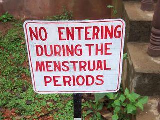 Menstruation sign
