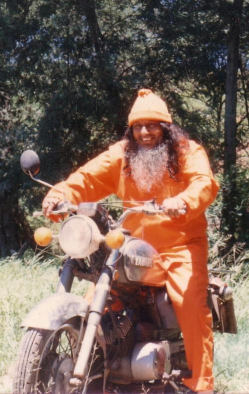 Papa on motorbike